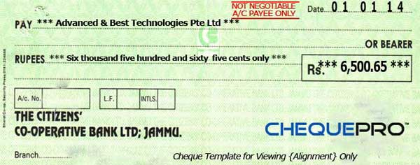 Cheque printing writing software for india banks chequepro is intelligently designed tool that enables user from any country to use the application the cheque alignment engine helps user to configure the ccuart Gallery