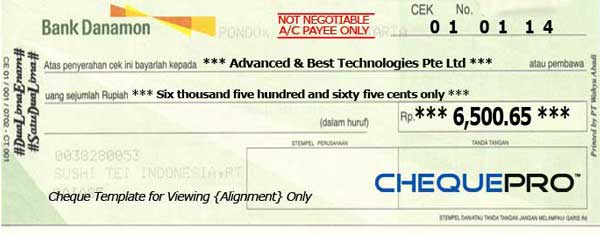 how to write a personal cheque australia