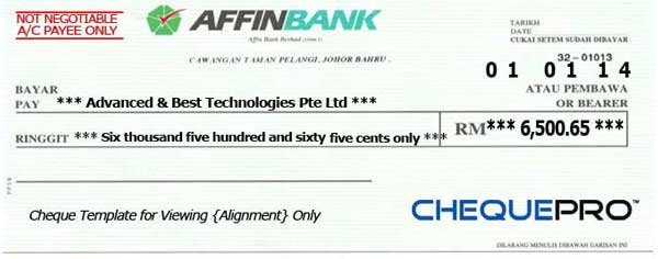 cheque printing writing software for malaysia bank template, Powerpoint templates