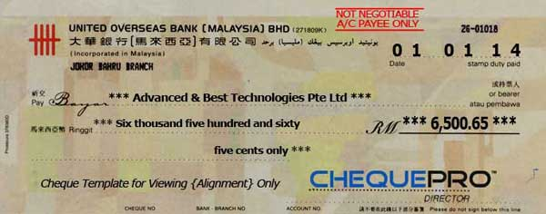 Cheque printing writing software for malaysia bank template baiduri bank ccuart Gallery