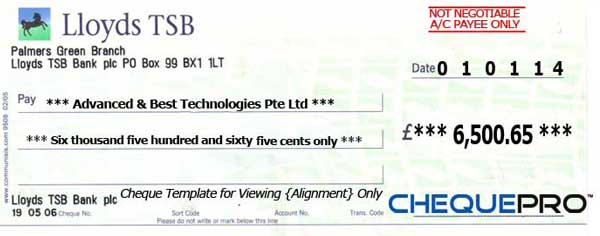 lloyds tsb request new cheque book