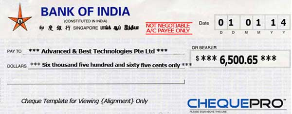 HSBC's e-Cheque services