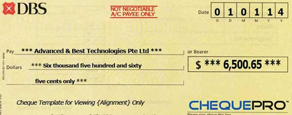 Issuing a Cheque