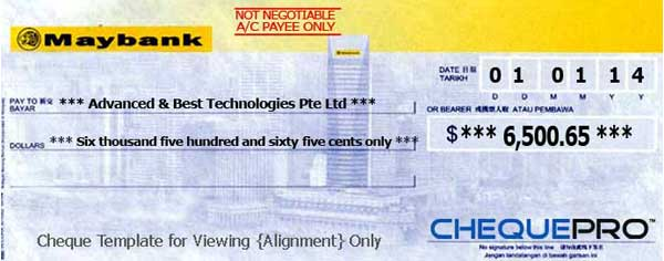 Cheque printing writing software for singapore banks baiduri bank ccuart Gallery