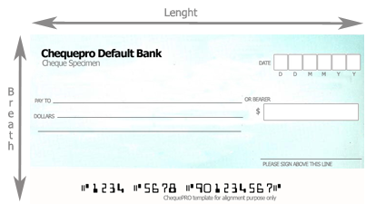 Cheque dimensions